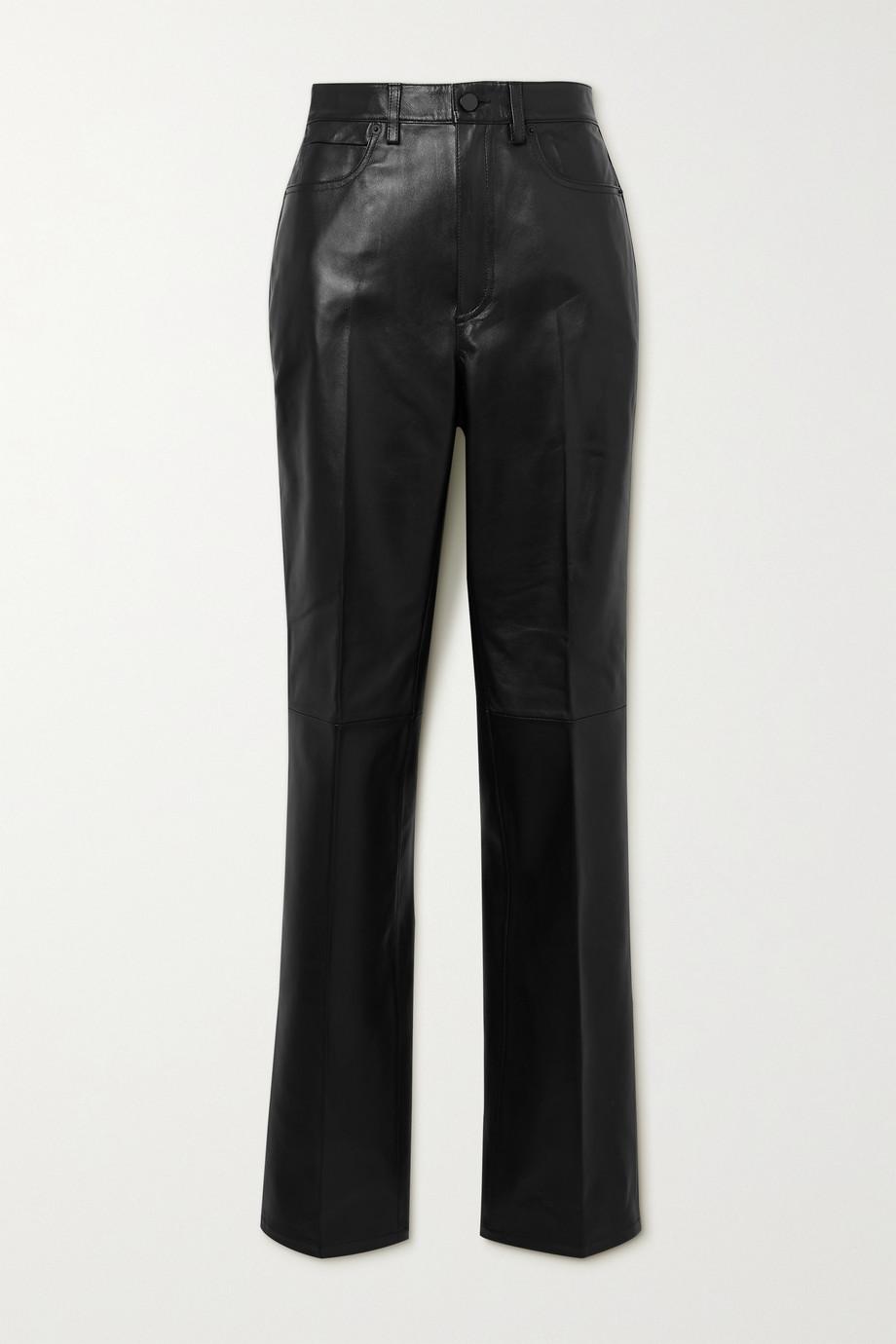 Alexander Wang Leather straight-leg pants