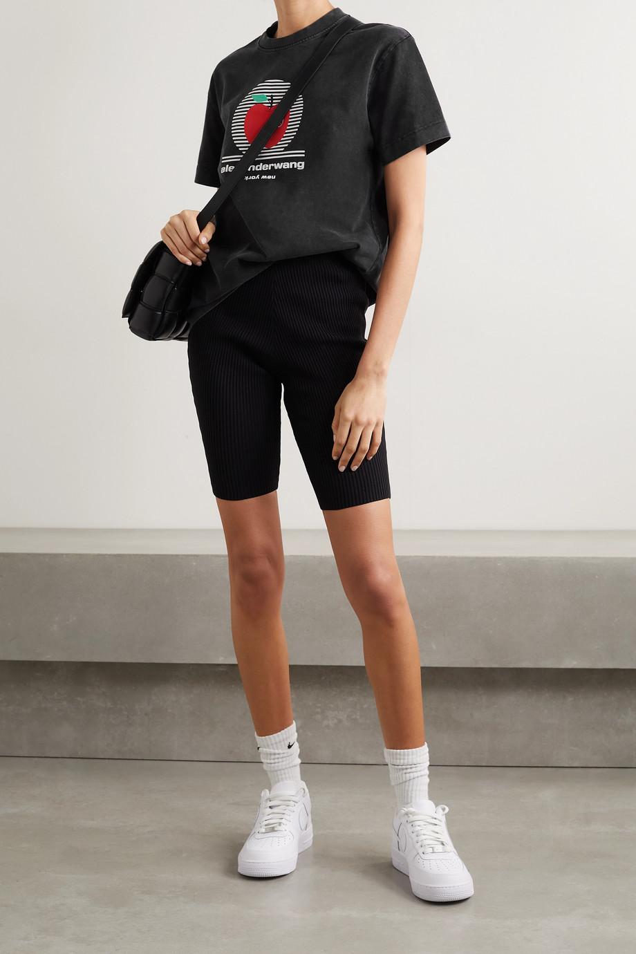 Alexander Wang Oversized printed cotton-jersey T-shirt