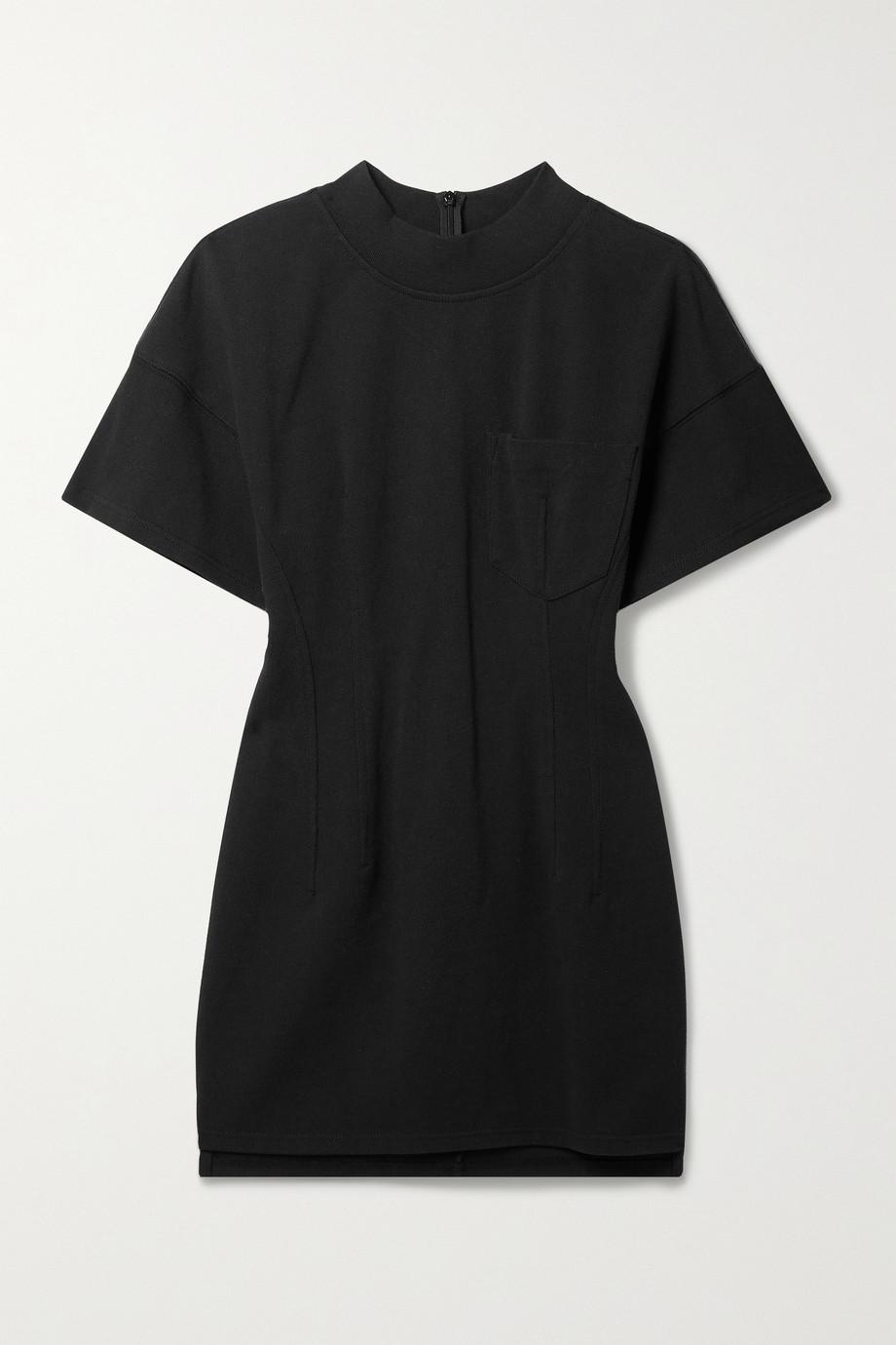 alexanderwang.t Gathered cotton-jersey mini dress