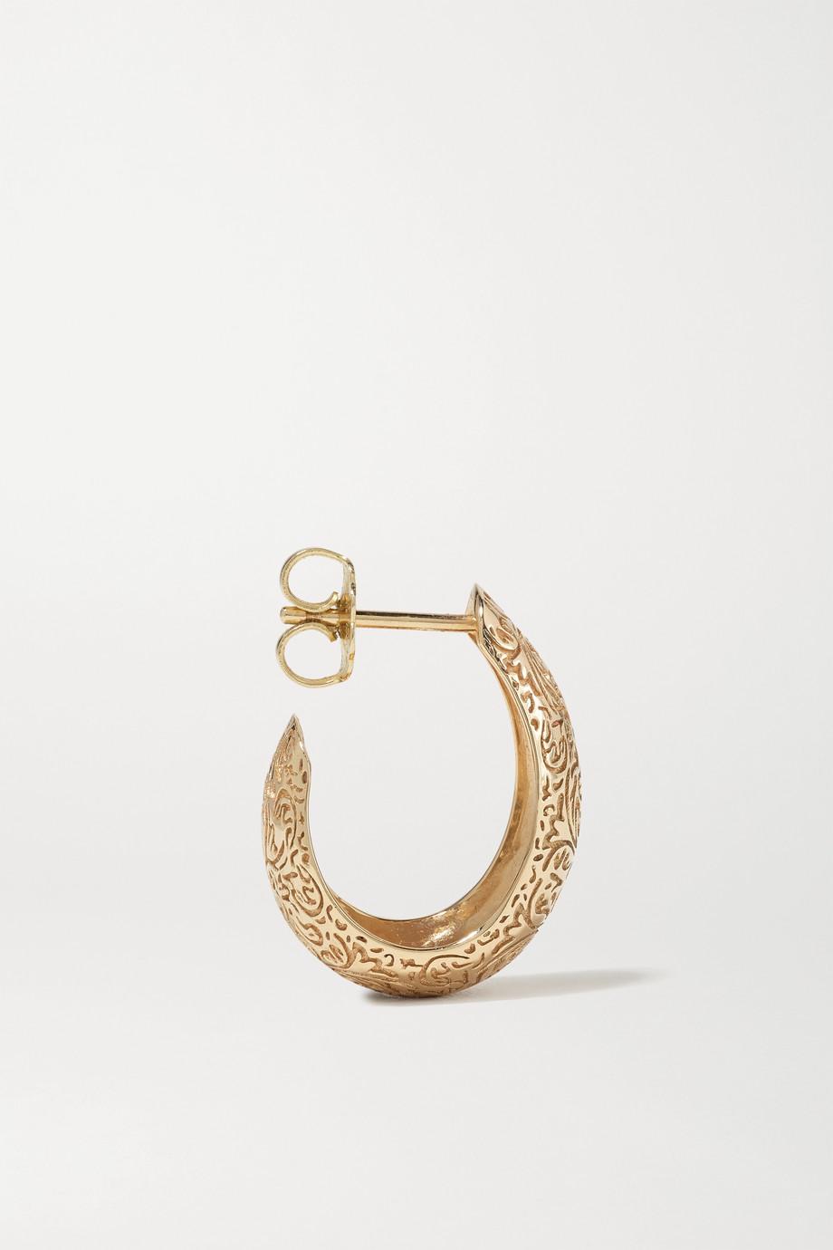 Larkspur & Hawk Illustrated Arbor Bombay 14-karat gold hoop earrings