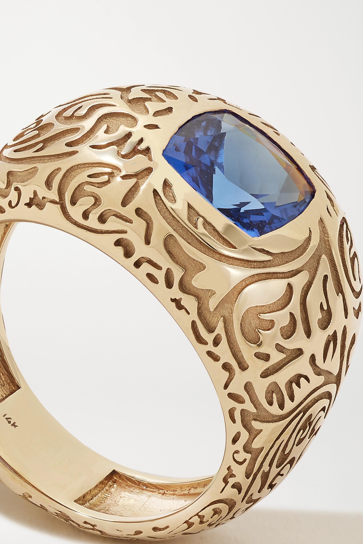 Larkspur & Hawk Illustrated 14-karat gold tanzanite ring
