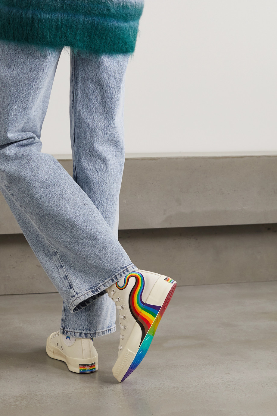 Converse Chuck 70 Pride embroidered canvas high-top sneakers