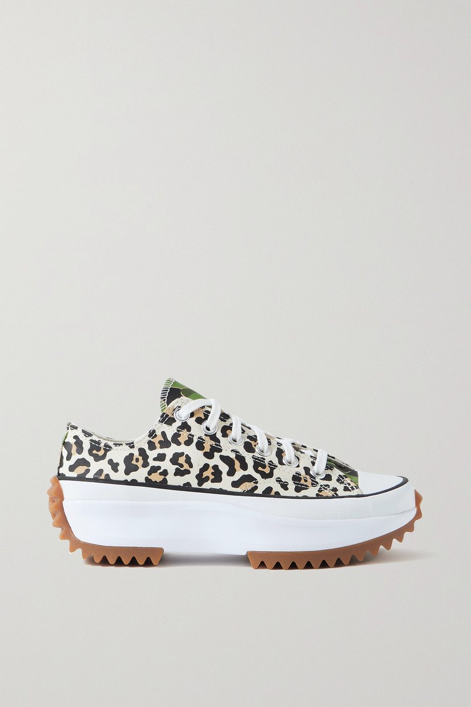 Converse Run Star Hike leopard and camouflage-print canvas sneakers
