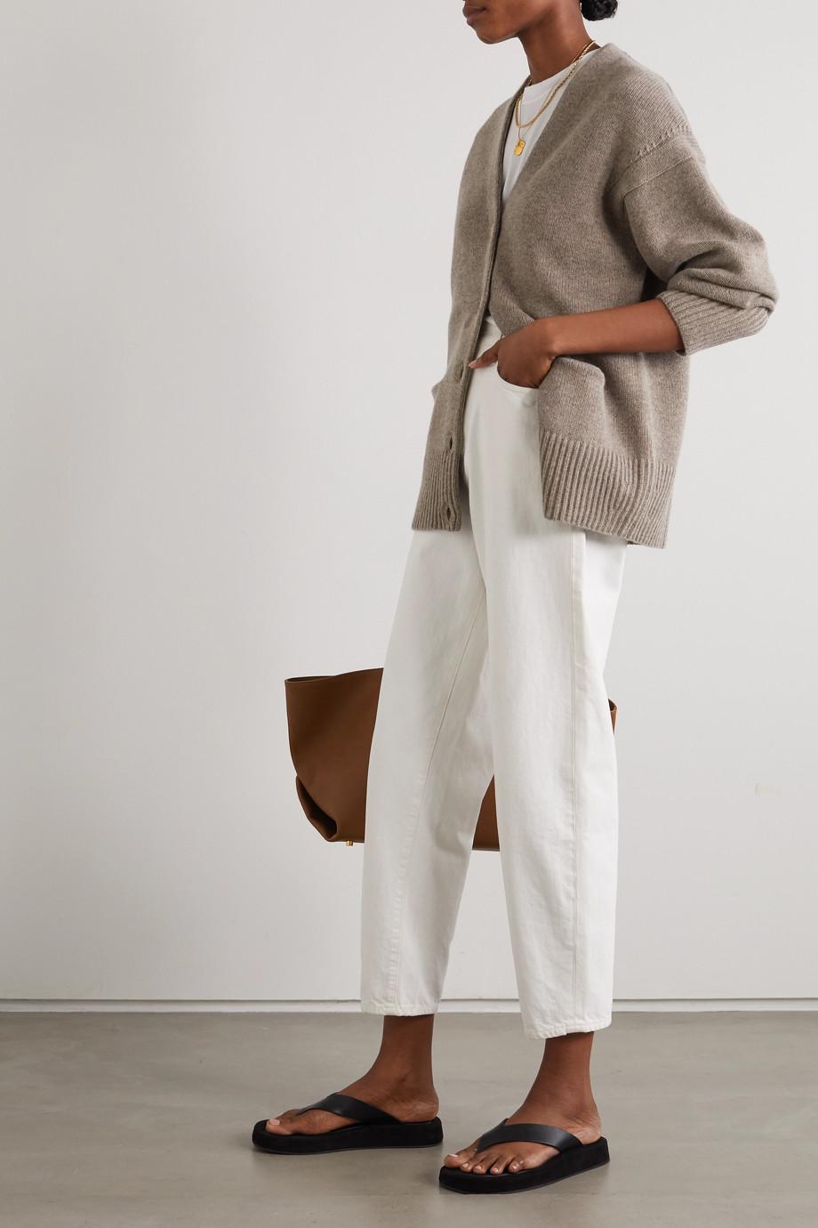 LOULOU STUDIO Sri mélange wool and cashmere-blend cardigan