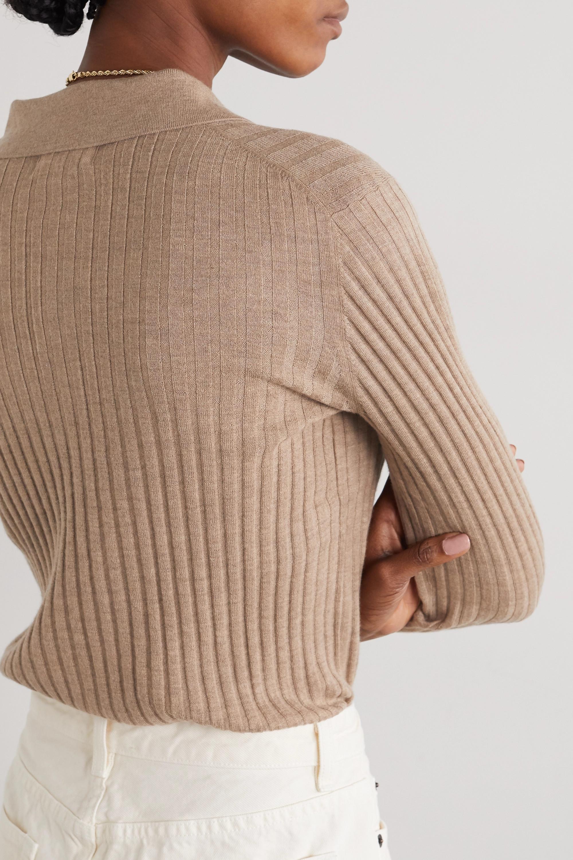 LOULOU STUDIO Pull en laine et cachemire mélangés côtelés chinés Sulug