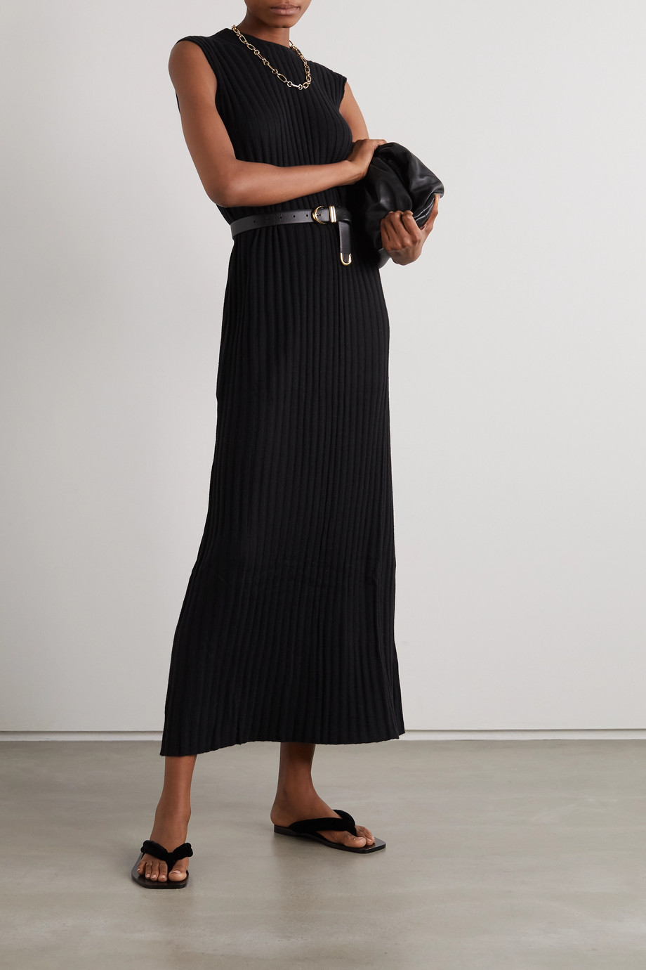 LOULOU STUDIO Andrott ribbed wool and cashmere-blend maxi dress