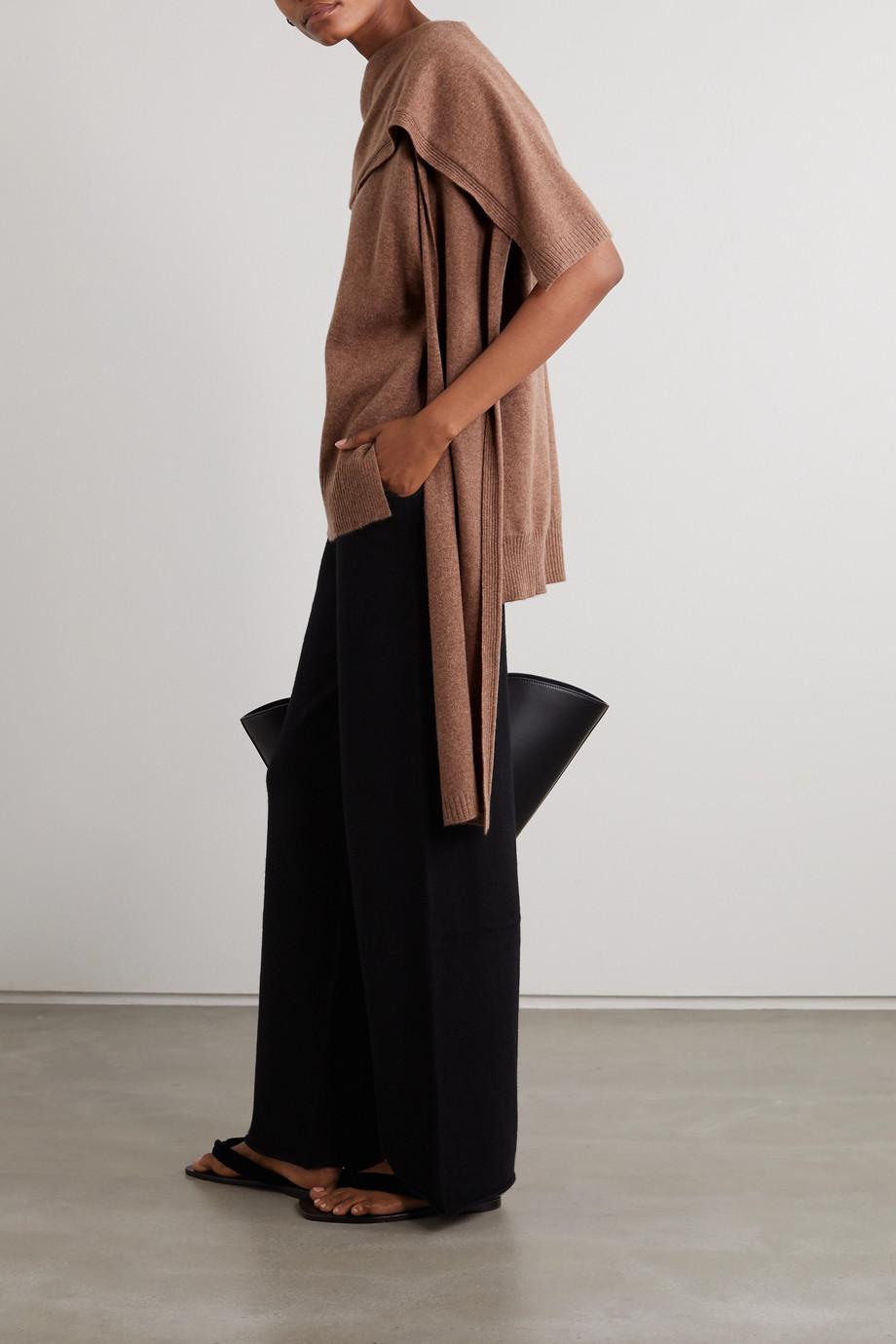 LOULOU STUDIO Monbasa drapierter Pullover aus meliertem Kaschmir