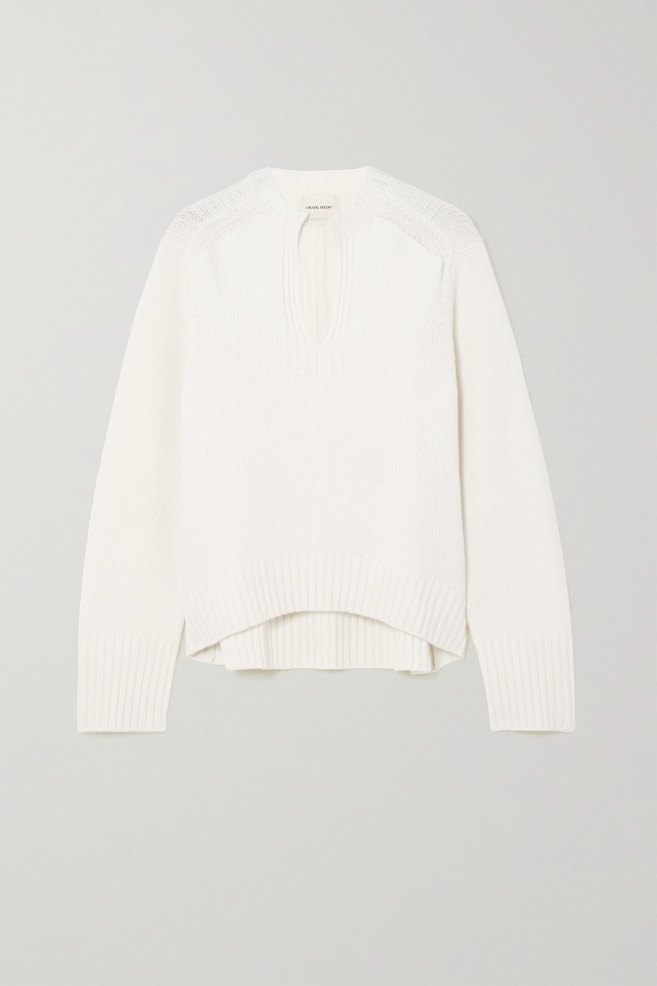 LOULOU STUDIO Sebatik ribbed wool and cashmere-blend sweater
