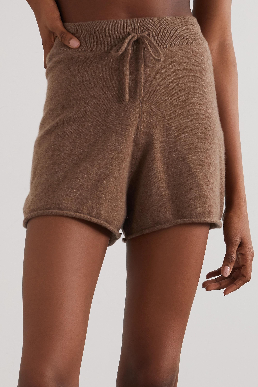 LOULOU STUDIO Robben mélange cashmere shorts
