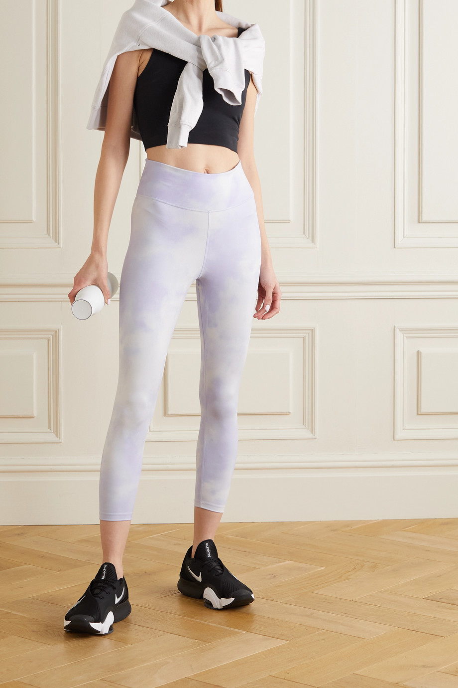 Nike Icon Clash cropped printed Dri-FIT leggings