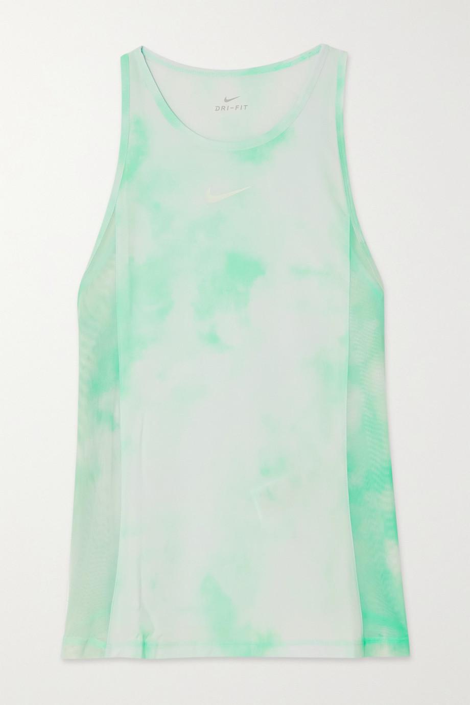 Nike Icon Clash City Sleek mesh-paneled tie-dyed Dri-FIT tank