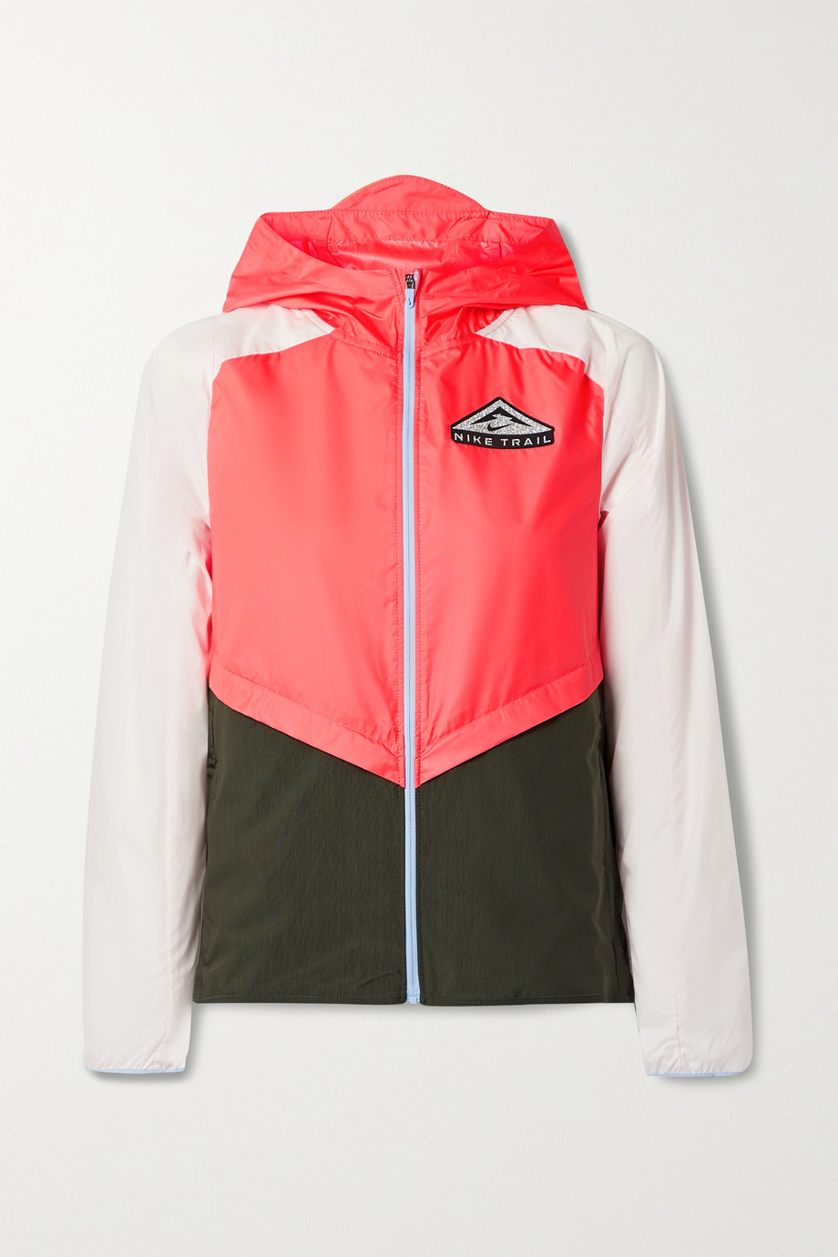 Nike Trail color-block mesh-trimmed recycled ripstop jacket