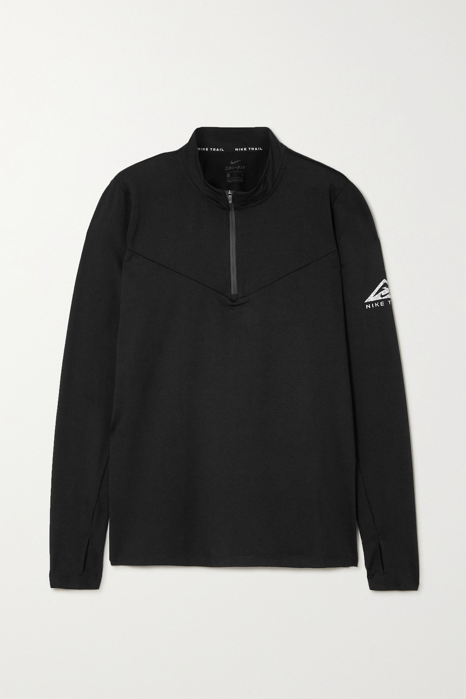 Nike Element Trail printed stretch-jersey top