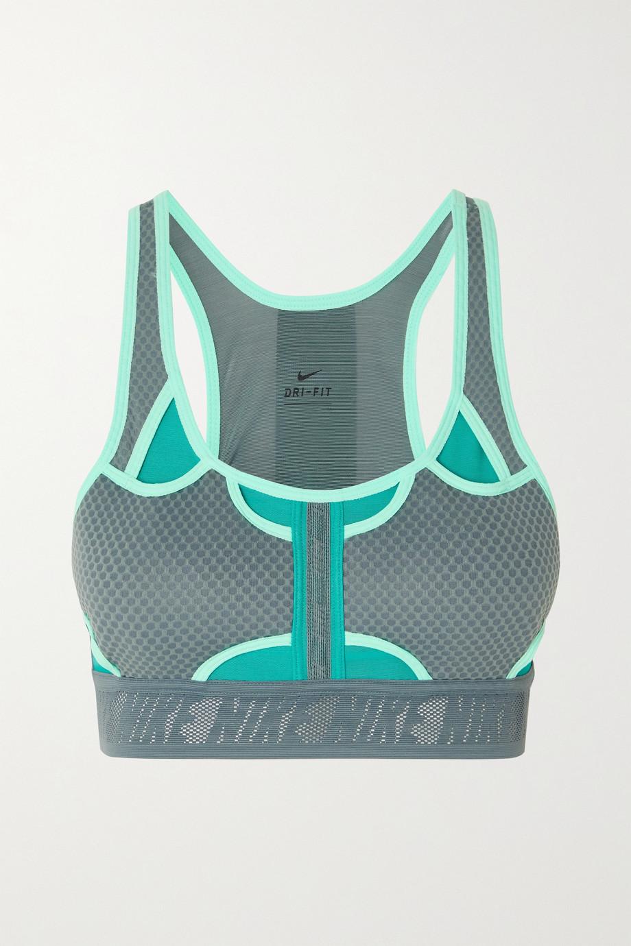 Nike Swoosh UltraBreathe cutout mesh-paneled Dri-FIT sports bra