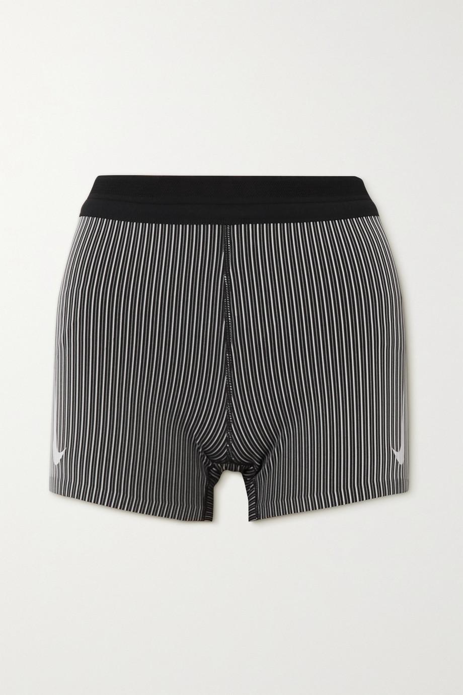 Nike AeroSwift striped ribbed Dri-FIT shorts