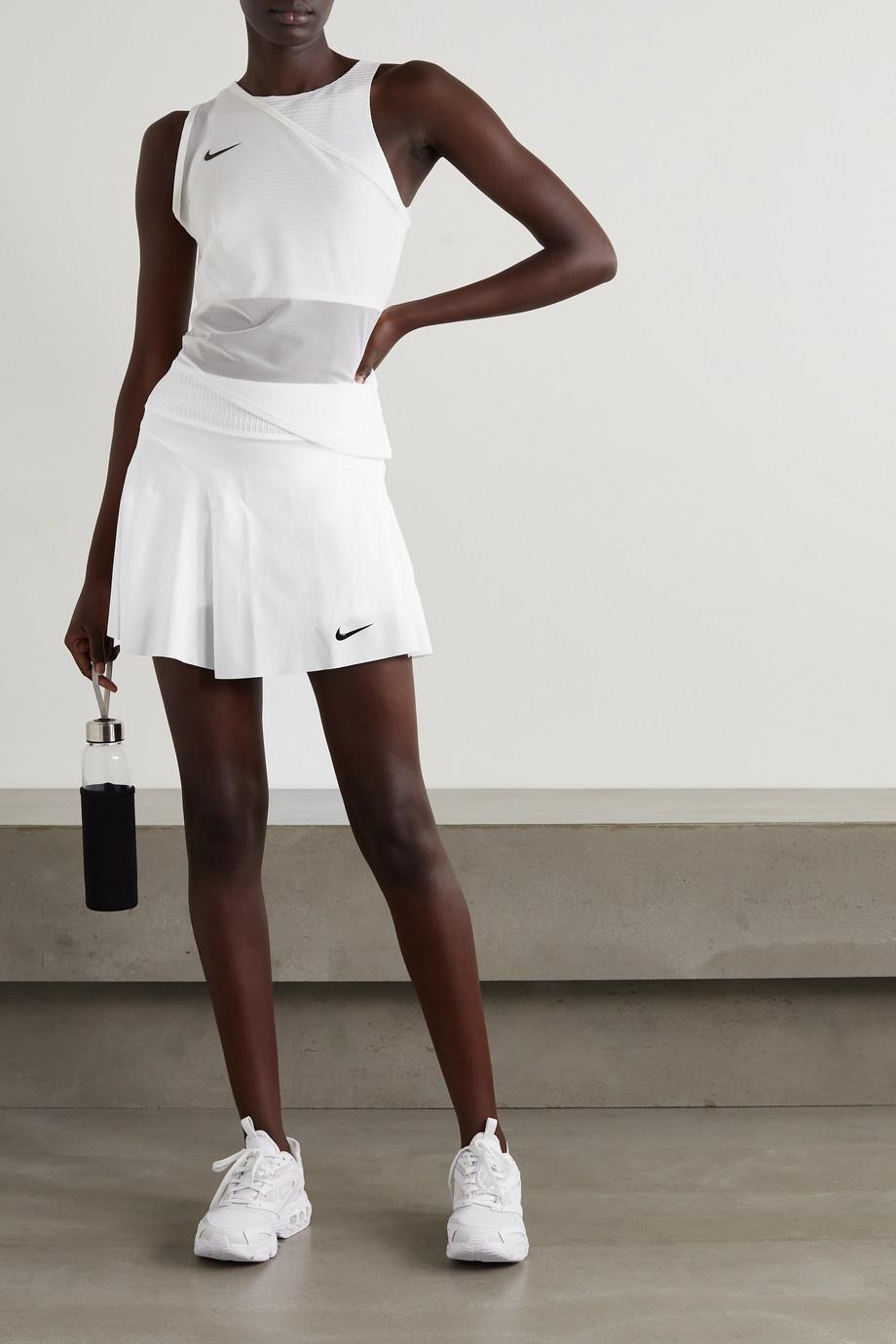 Nike Advantage Slam mesh-paneled Dri-FIT tennis skirt