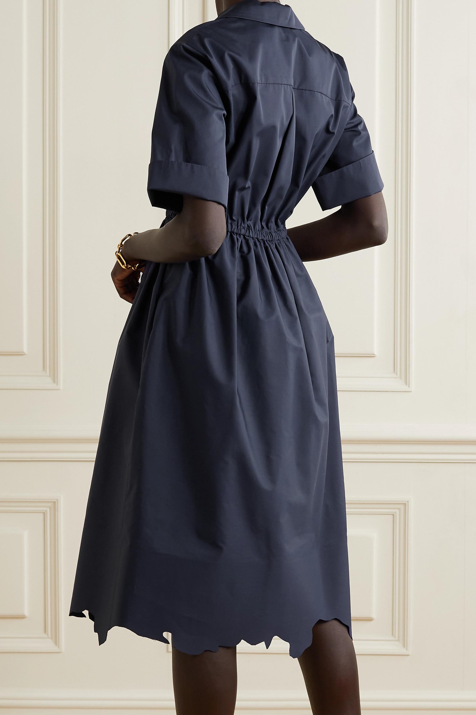 ROSIE ASSOULIN Midi dresses JANE SCALLOPED COTTON-POPLIN SHIRT DRESS