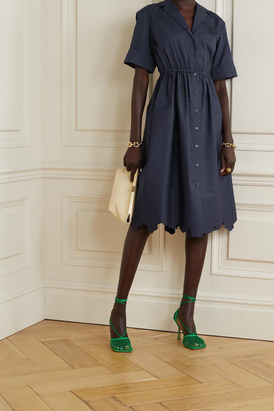 Rosie Assoulin Jane scalloped cotton-poplin shirt dress