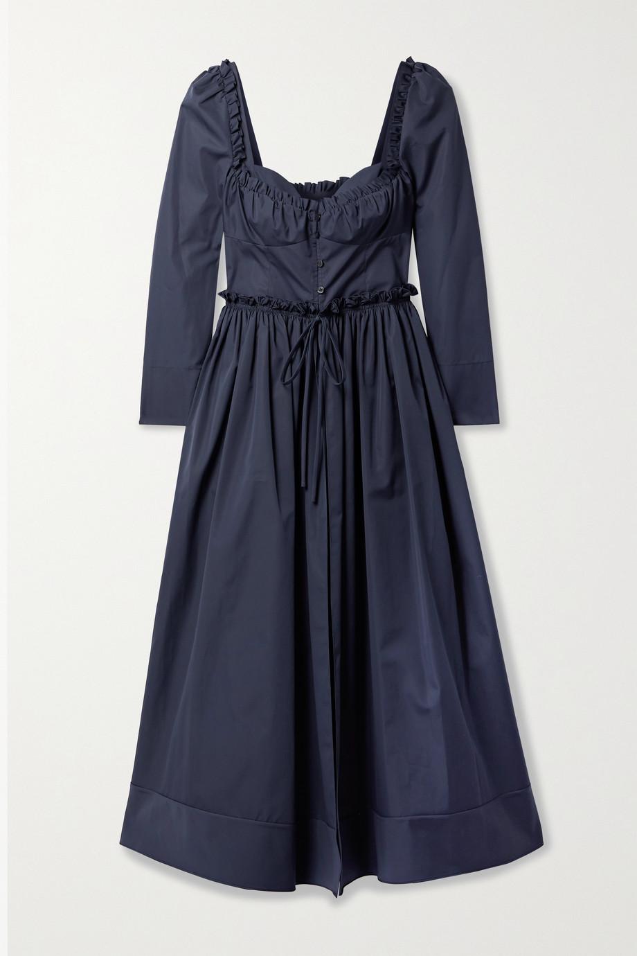 Rosie Assoulin Winter Garden Party layered ruffled cotton-poplin midi dress