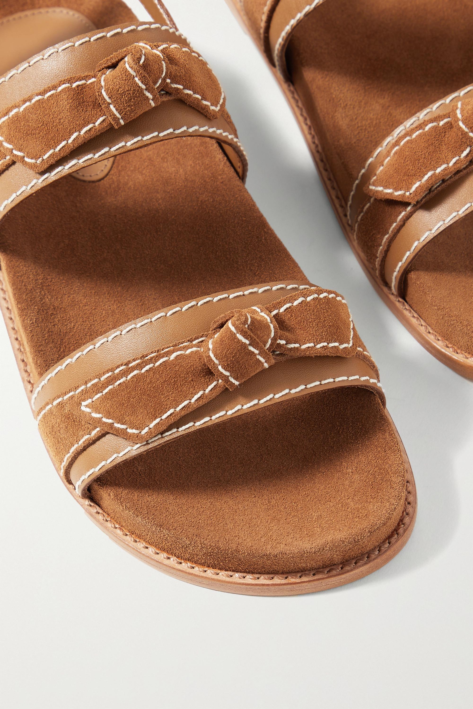 Alexandre Birman Clarita Sport Sandalen aus Veloursleder und Leder mit Knoten