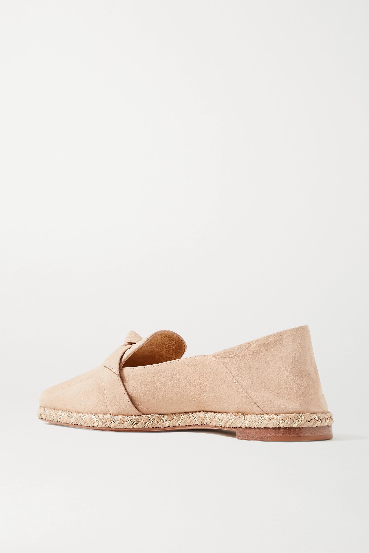 Alexandre Birman Chaussures plates façon espadrilles convertibles en daim synthétique à nœuds Clarita