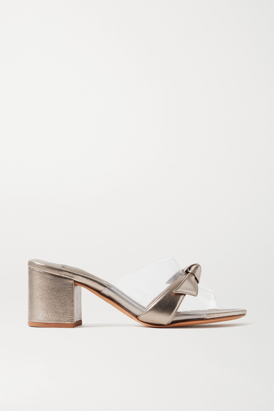 Alexandre Birman Clarita PVC and metallic leather mules