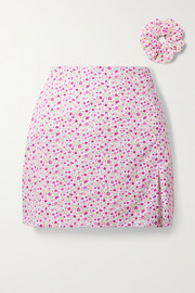 MaisonCléo + NET SUSTAIN Sophie floral-print cotton mini skirt