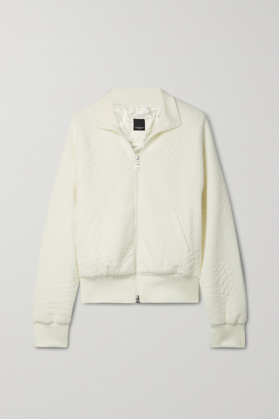 TWENTY Montréal Caiman textured-jersey bomber jacket