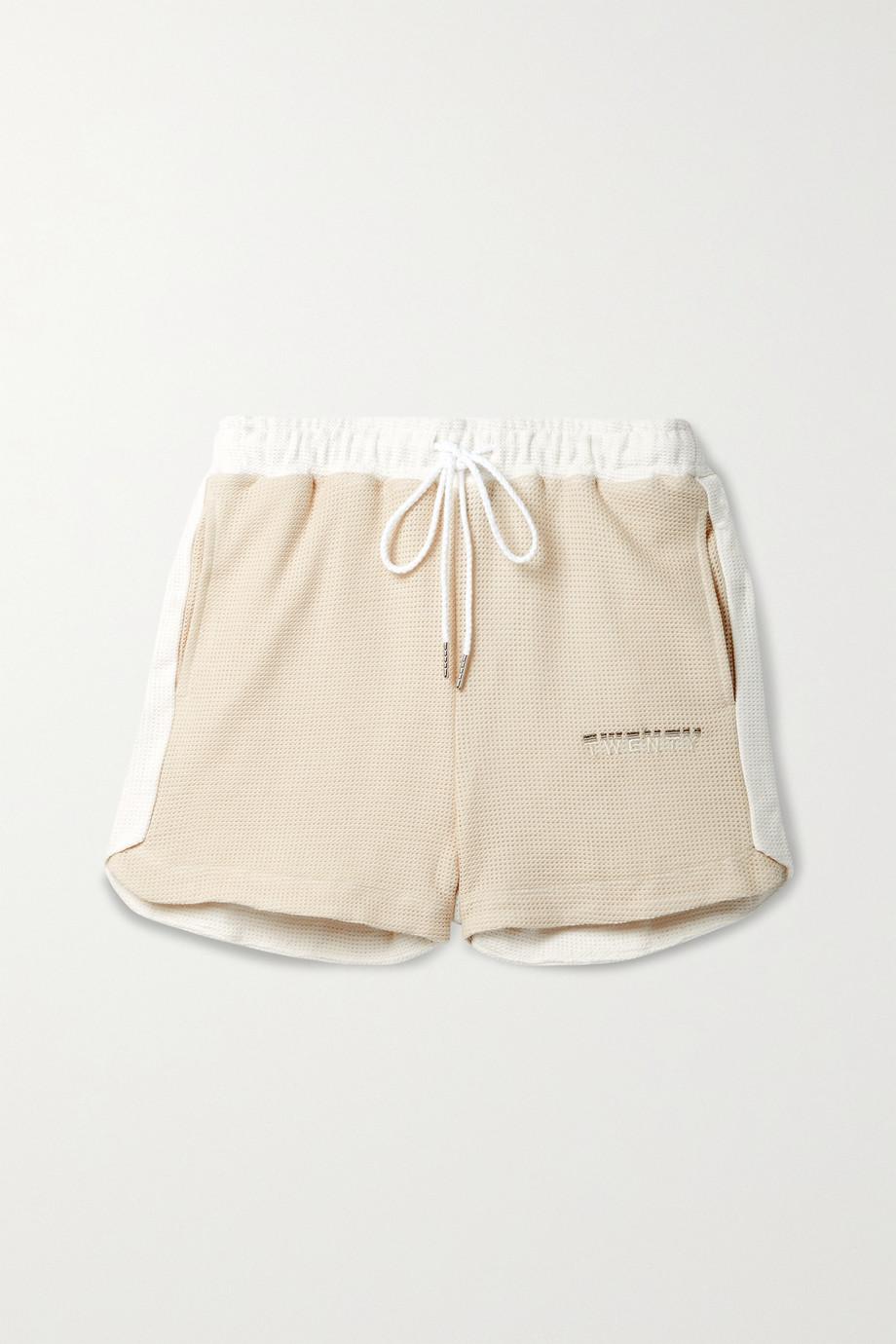 TWENTY Montréal Breathe two-tone cotton-blend mesh shorts