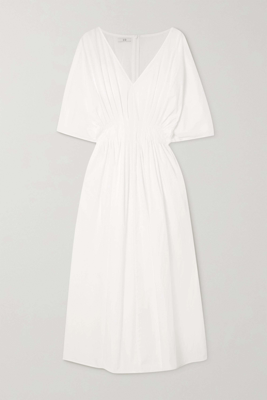 Co Pleated cotton-blend midi dress