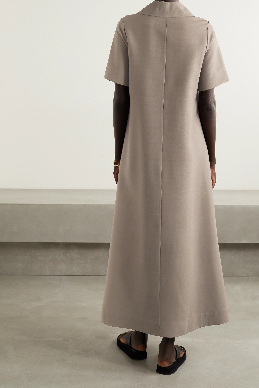 Co Woven maxi shirt dress