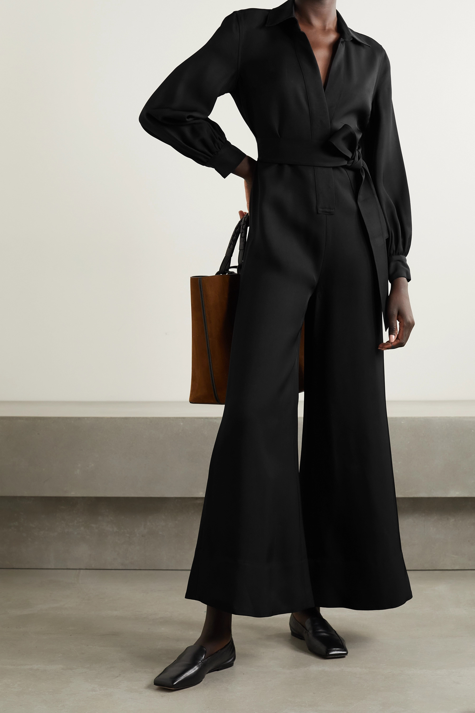 Co Belted twill jumpsuit