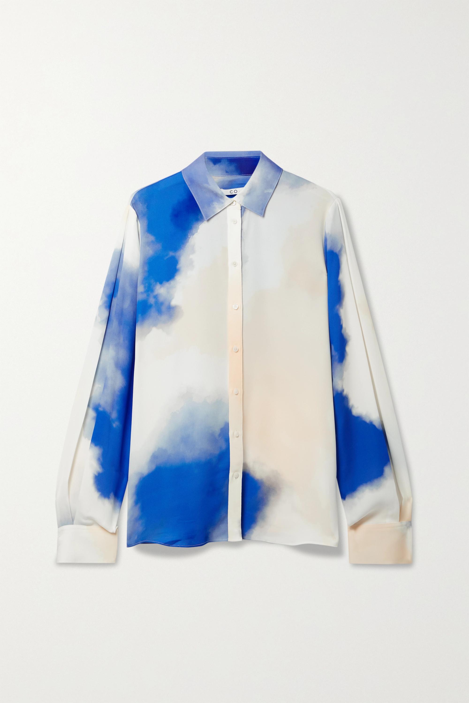 Co Printed silk crepe de chine shirt