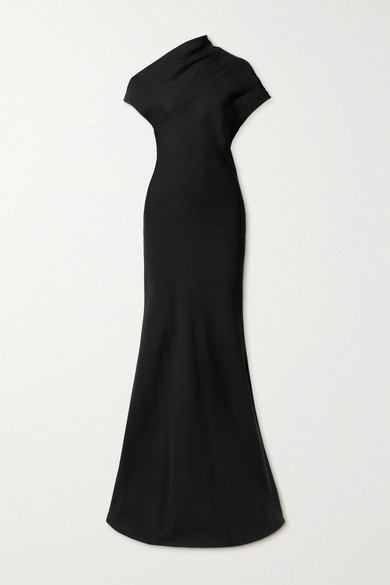 Co Gowns DRAPED TWILL GOWN