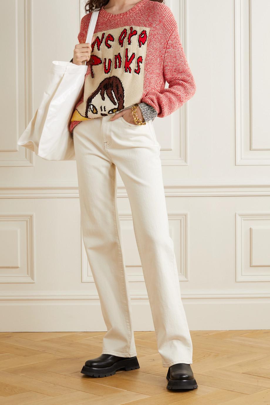 Stella McCartney + Yoshitomo Nara intarsia organic cotton sweater