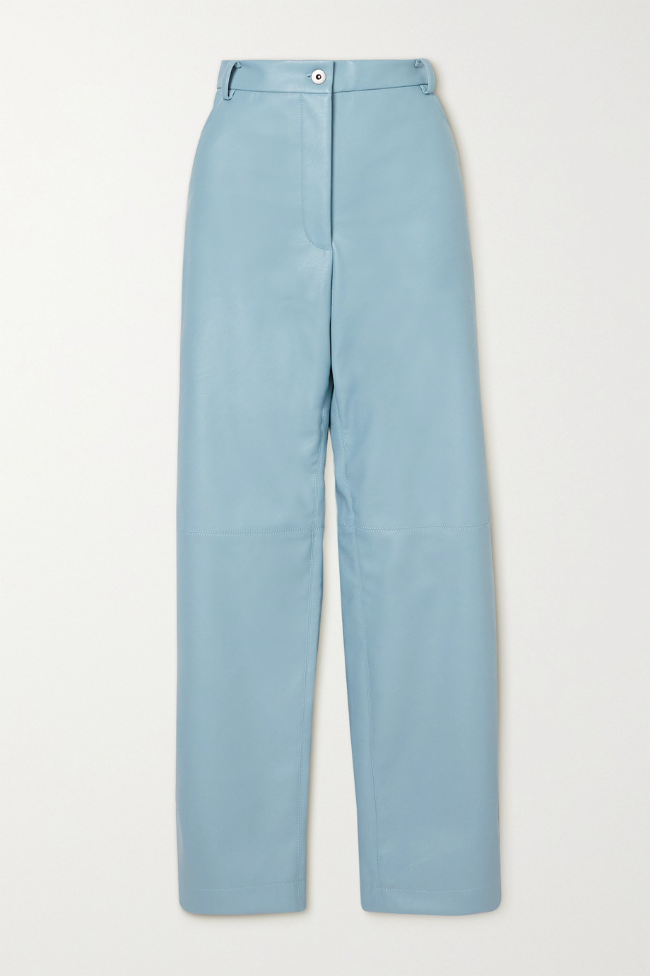 Stella McCartney Hailey vegetarian leather straight-leg pants