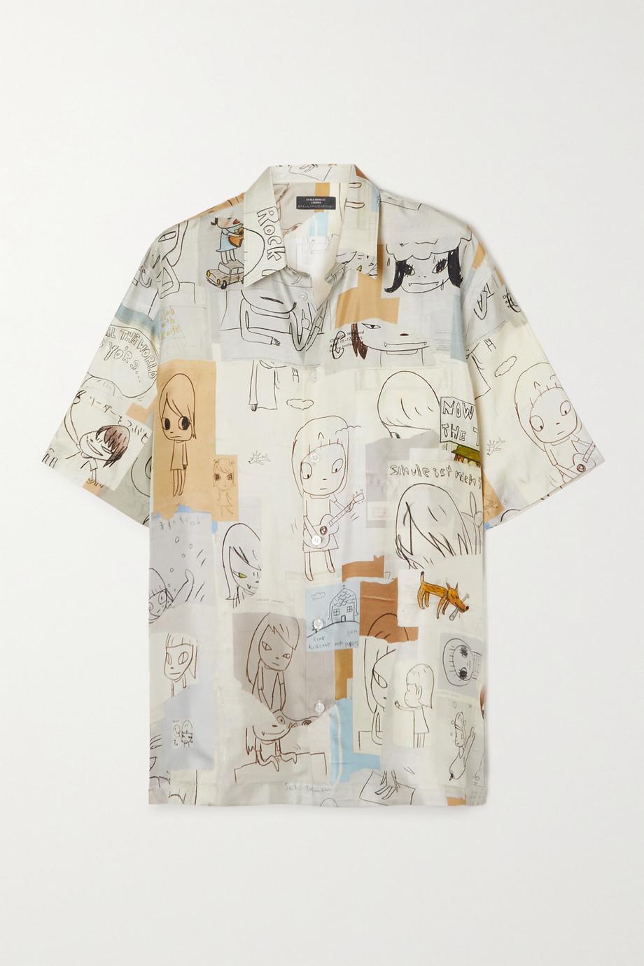 Stella McCartney + Yoshitomo Nara Ricky printed silk-twill shirt