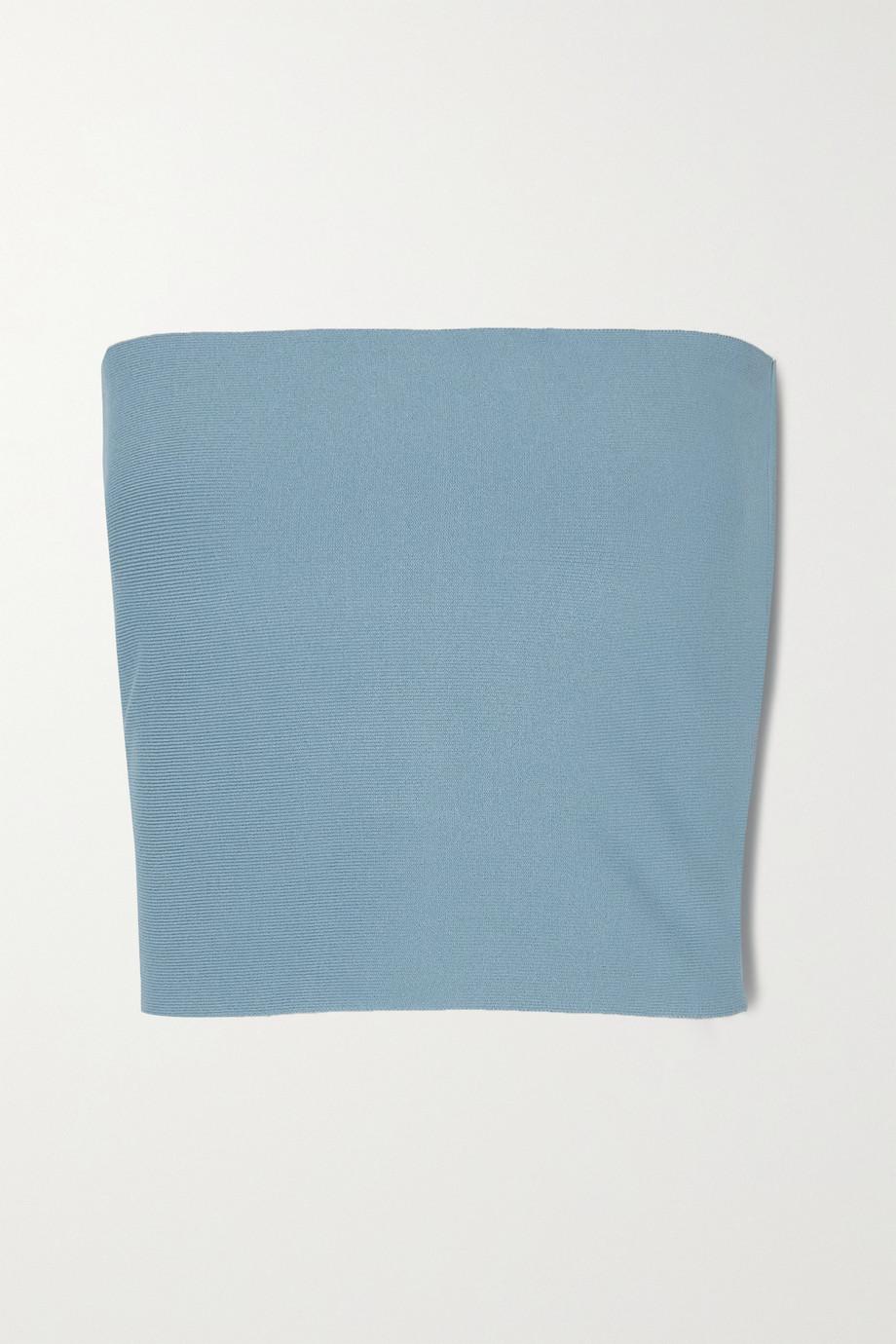 Stella McCartney Stretch-knit bandeau top