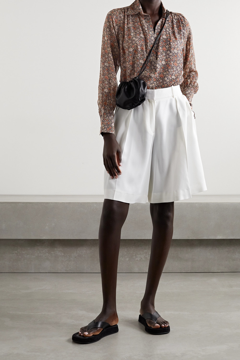 Nili Lotan Colleen floral-print silk-chiffon blouse