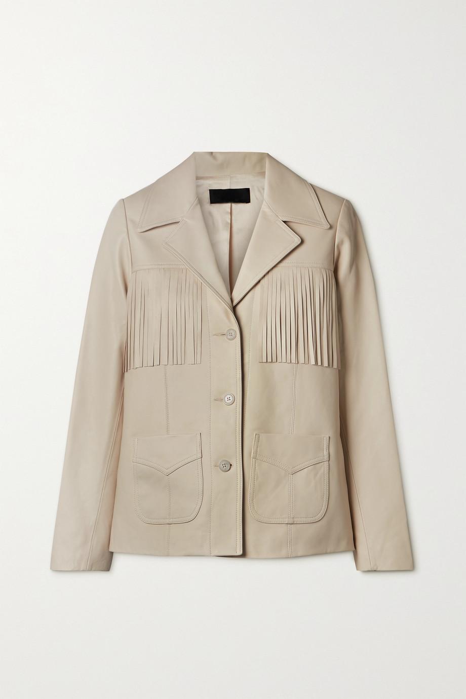 Nili Lotan Carter fringed leather jacket