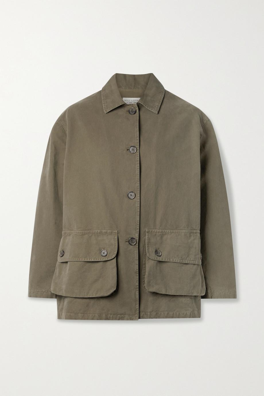 Nili Lotan Connor cotton-canvas jacket