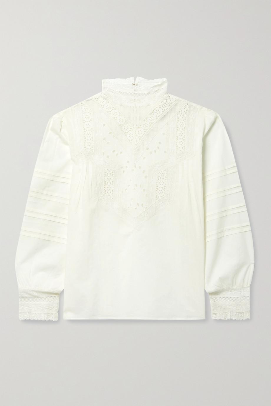 Nili Lotan Evie broderie anglaise cotton-voile blouse