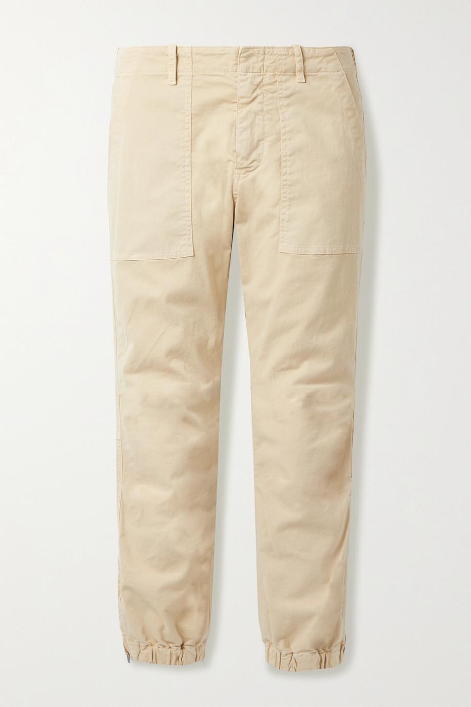 Nili Lotan Cropped cotton-blend twill tapered pants
