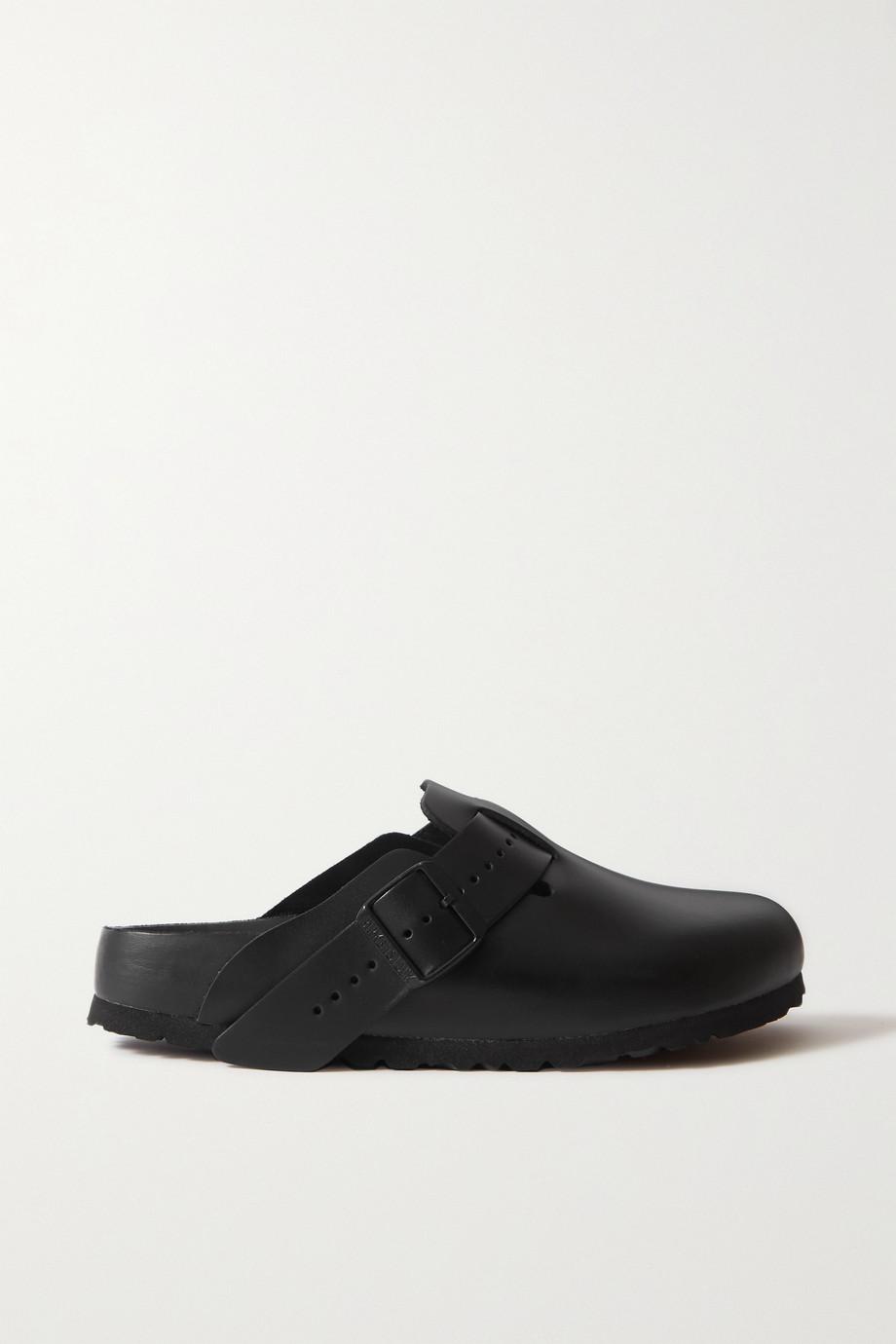 Rick Owens + Birkenstock Boston leather slippers