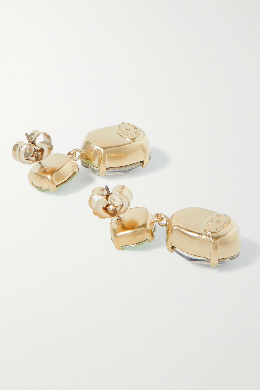 Roxanne Assoulin Boucles d'oreilles en métal doré et cristaux Hip-Hop But Not