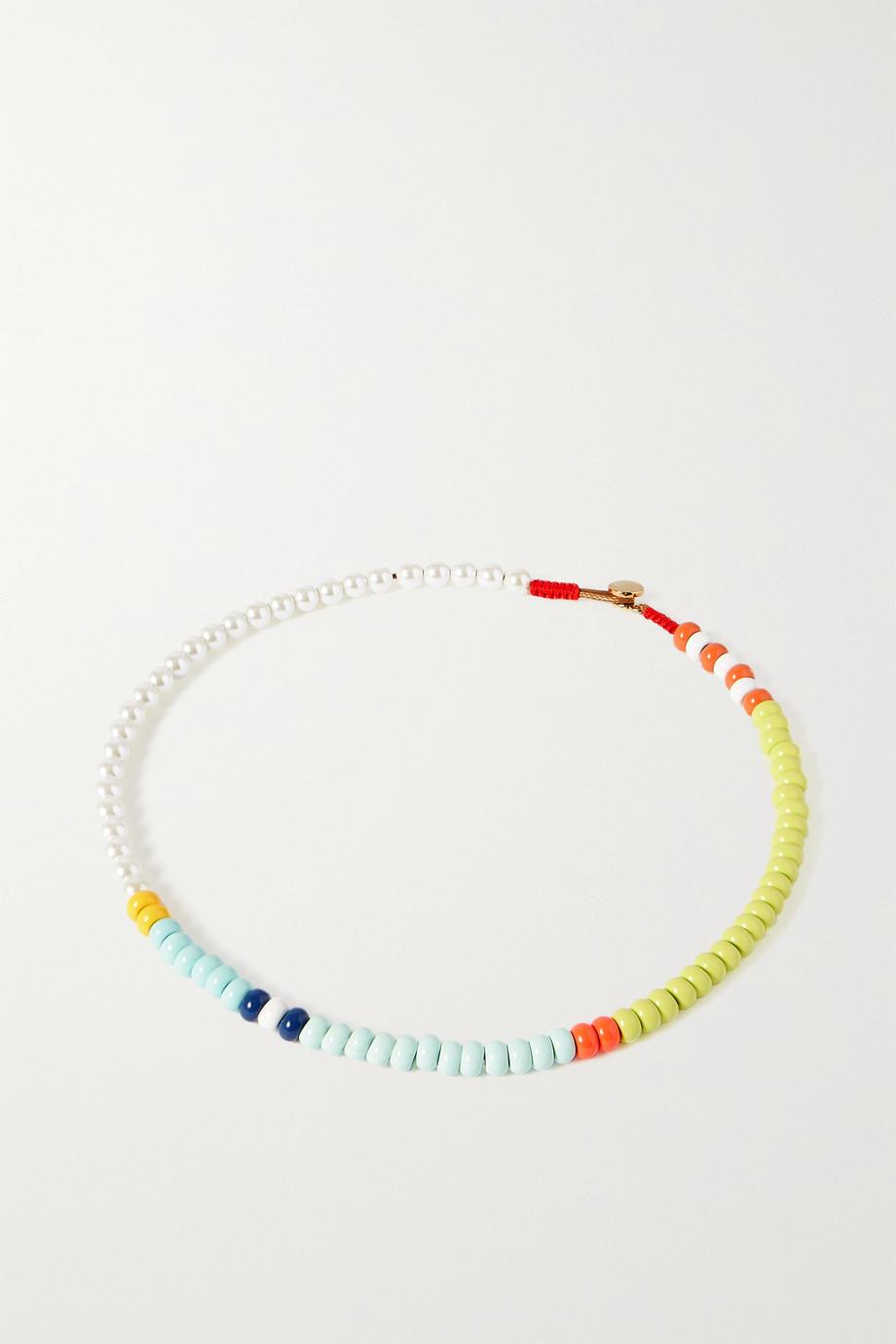 Roxanne Assoulin Collier en émail et perles synthétiques Loopy