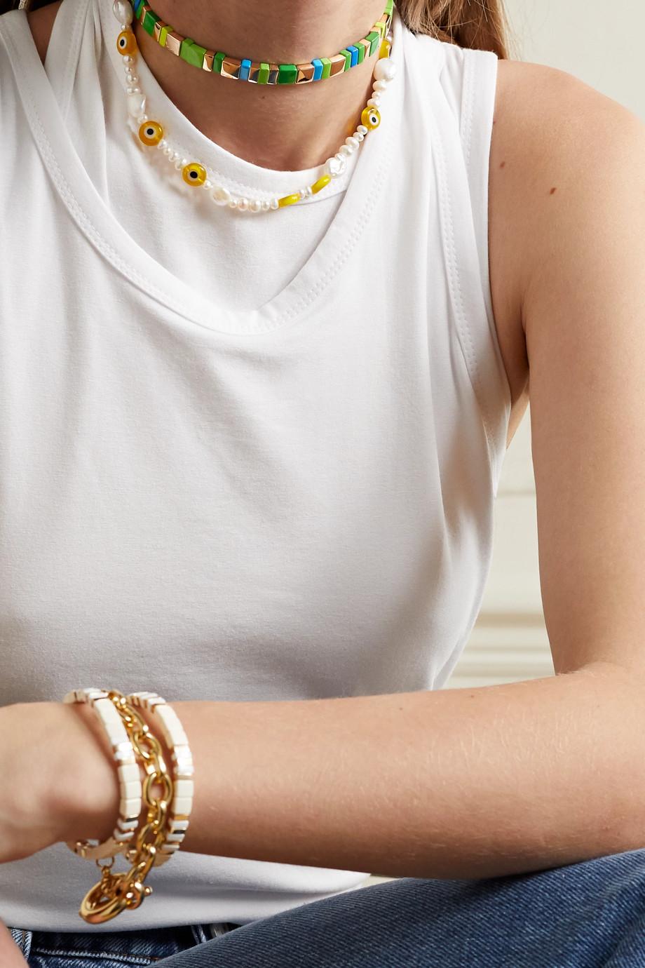 Roxanne Assoulin Tour de cou en émail et métal doré