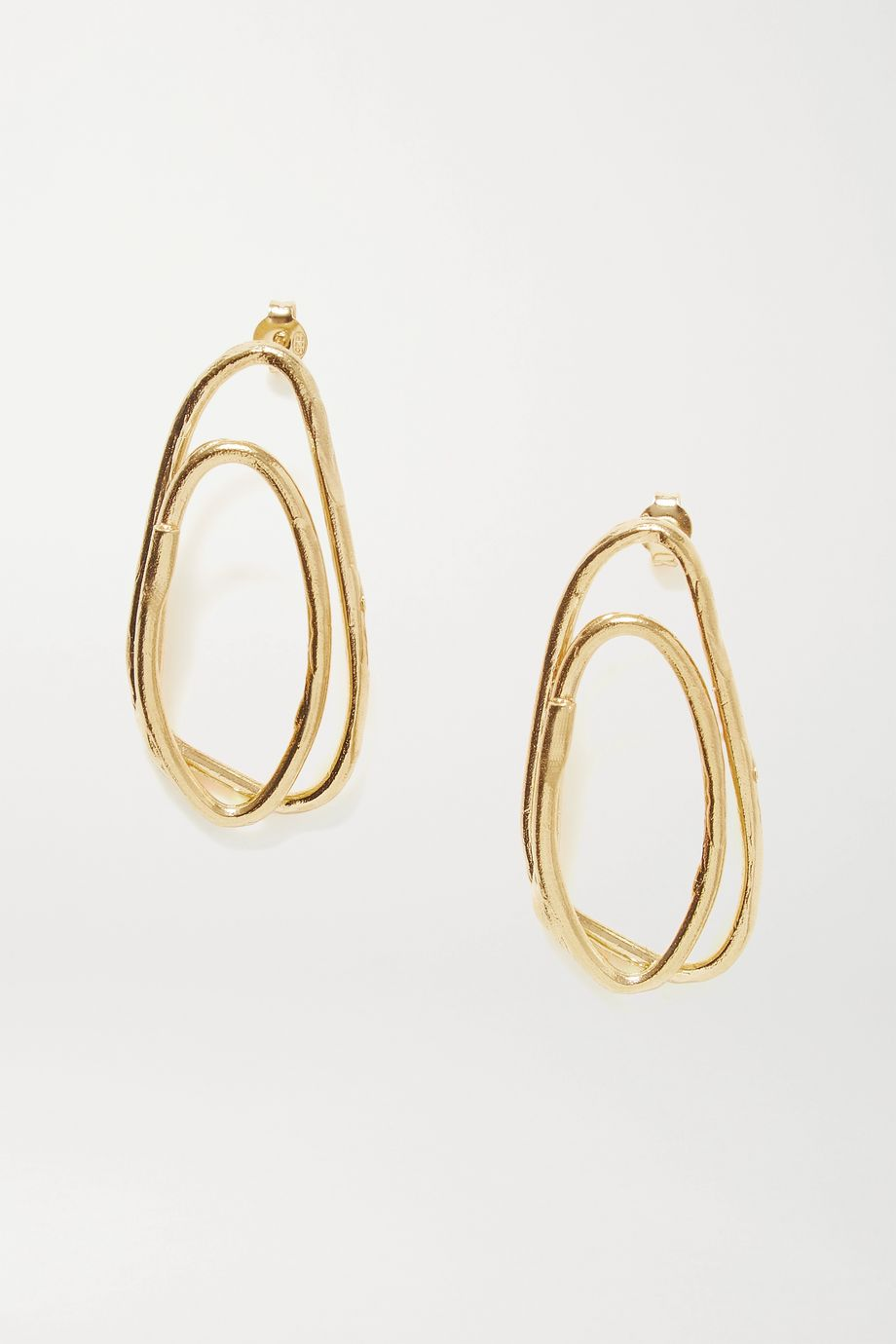 Alighieri The Rhymes of Love gold-plated earrings