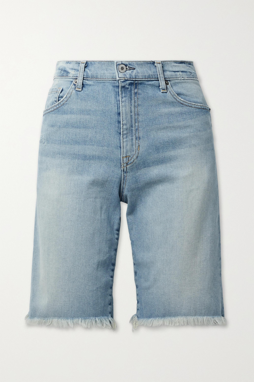 Nili Lotan Short boyfriend en jean effilé