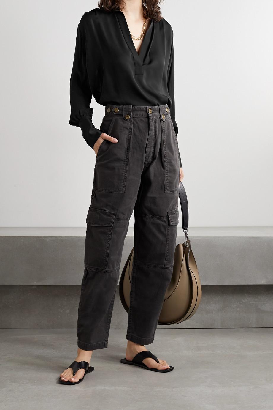 Nili Lotan Colleen silk-georgette blouse